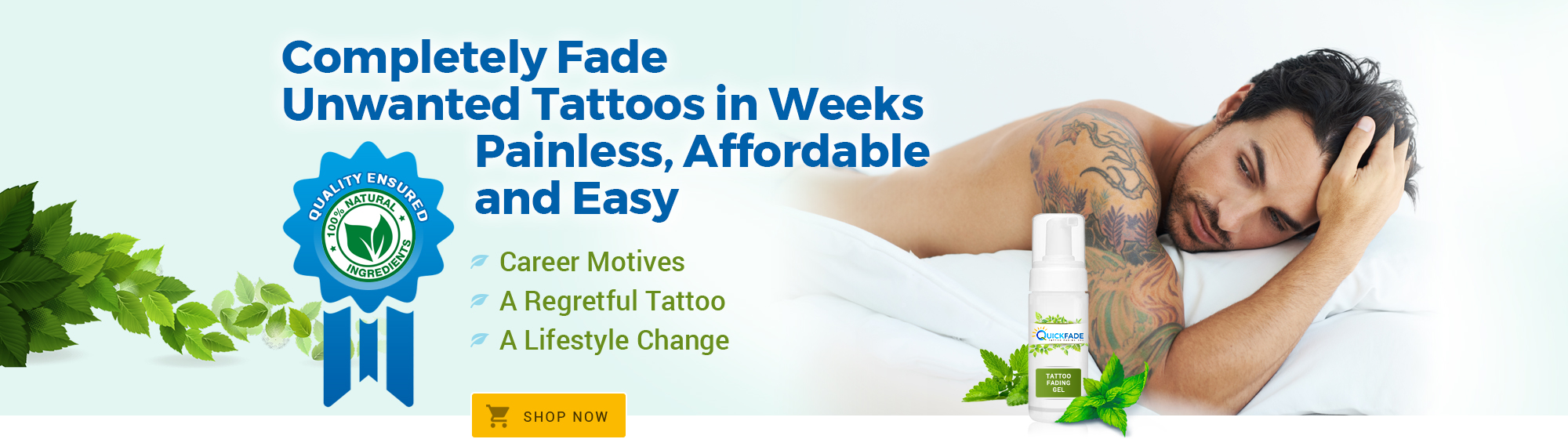 Quickfade Tattoo Fading Gel